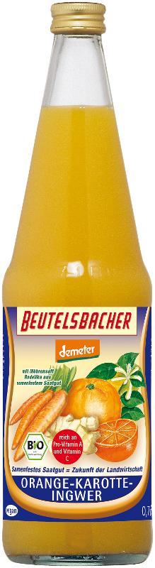 Orange-Karotte-Ingwer-Saft Kasten