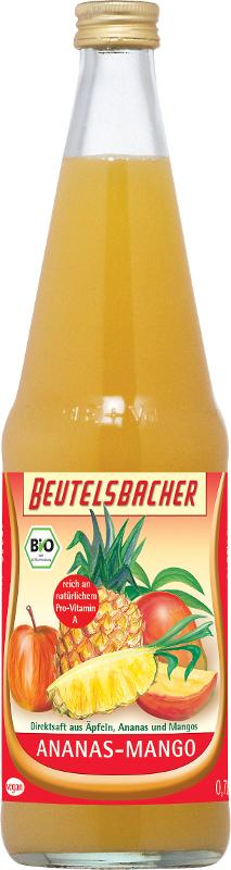 Ananas-Mango-Saft Kasten