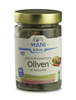 NEU: Grüne und Kalamata Oliven mit Chili & Kräutern - Einführungspreis!