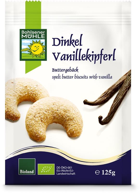 Dinkel Vanille-Kipferl