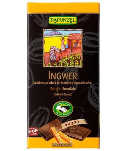 Zartbitter Schokolade Ingwer