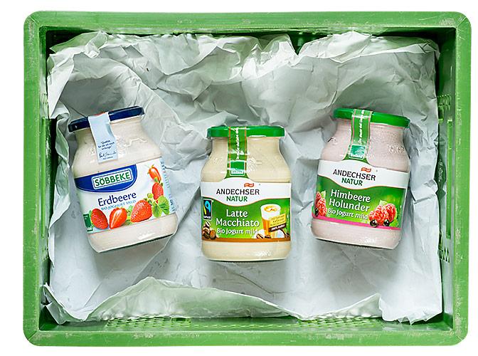 Fruchtjoghurt-Karussel