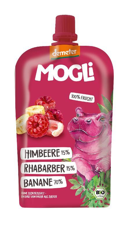 Moothie Banane-Rhabarber-Himbeere von Damia