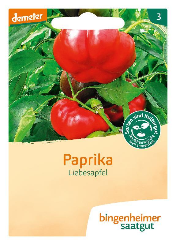 Saatgut Paprika Liebesapfel vin Bingenheimer Saatgut