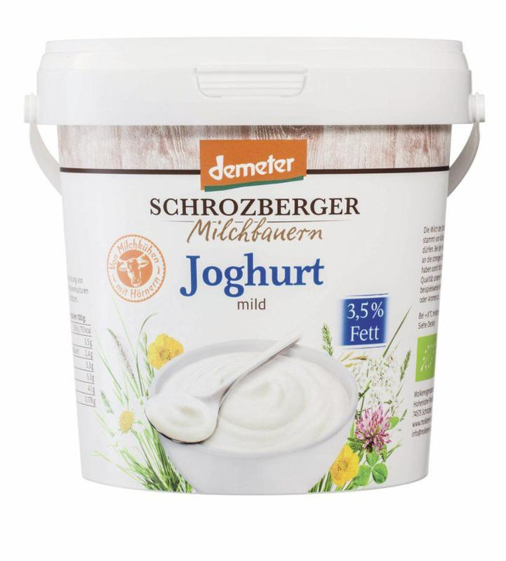 Vollmilchjoghurt 1 kg, 3,5% von Schrozberg