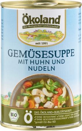 Gemüsesuppe mit Huhn von Ökoland