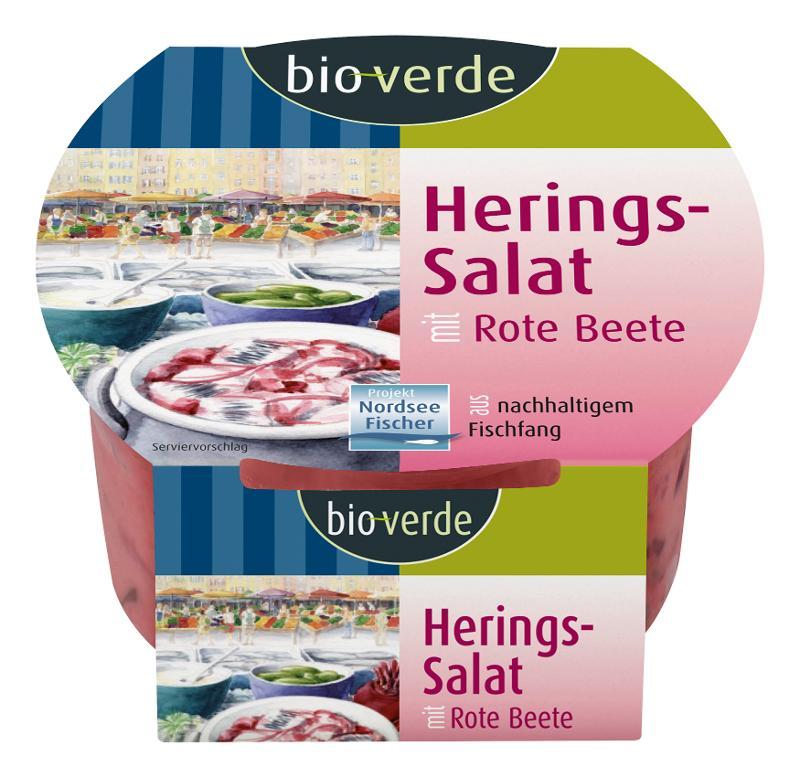 Herings-Salat mit Rote Beete in Joghurt-Sauce von bio-verde