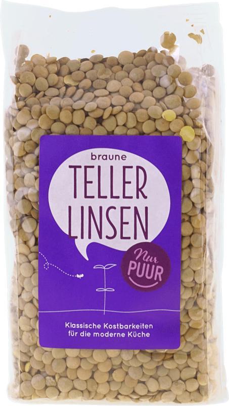 braune Teller-Linsen von Nur puur