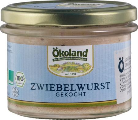 Zwiebelwurst, gekocht von Ökoland