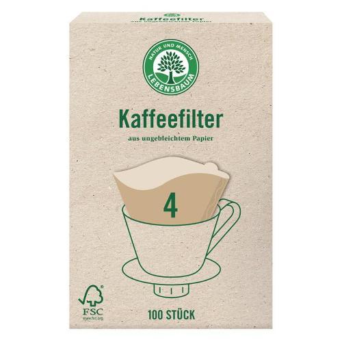 Kaffeefilter Größe 4 von Lebensbaum
