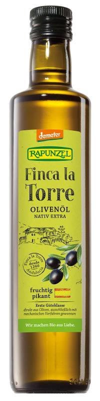 Olivenöl Finca la Torre, nativ extra, Demeter von Rapunzel