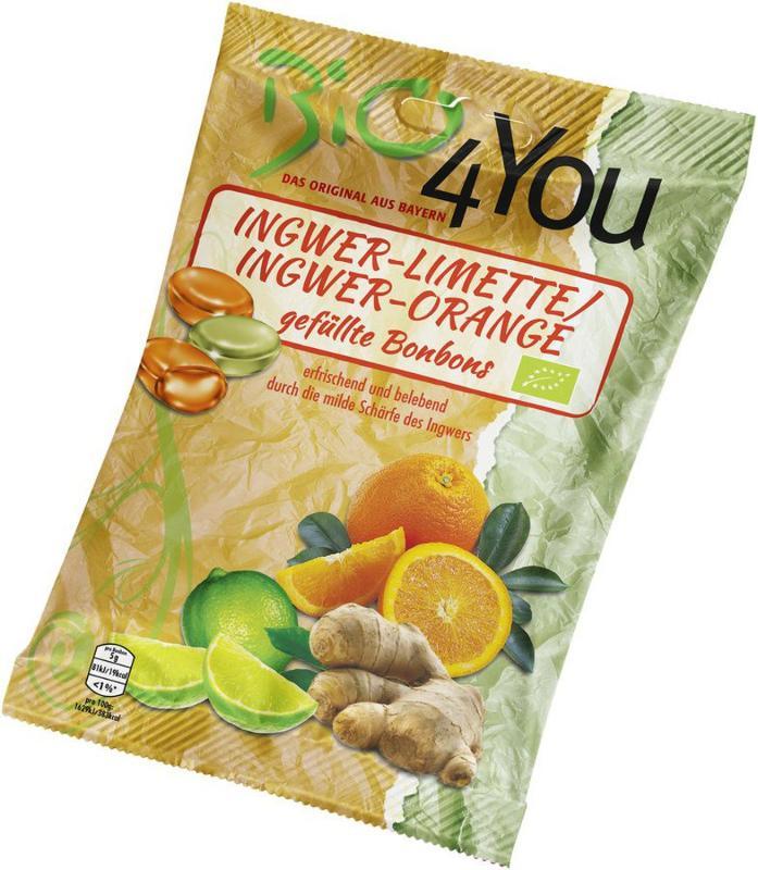 Ingwer Limette und Ingwer Orange Bonbons von bio4You