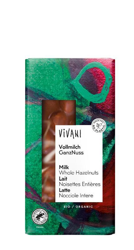 Schokolade Vollmilch mit ganzen Nüssen von Vivani