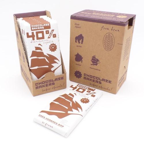 Schokolade Tres Hombres 40% von Chocolatemakers