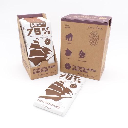 Schokolade Tres Hombres 75% von Chocolatemakers