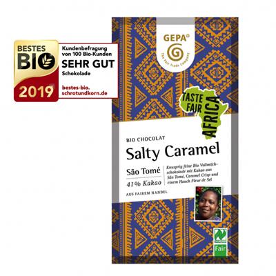 Schokolade Vollmilch - Salty Caramel von Gepa