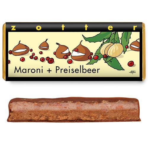 Maroni Preiselbeer Schokolade 70g