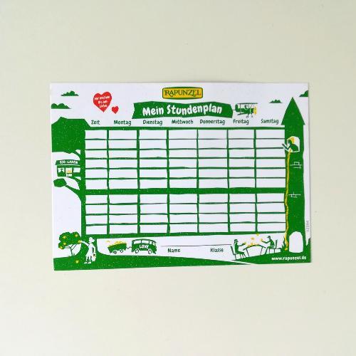 Stundenplan A6 - Postkartengröße