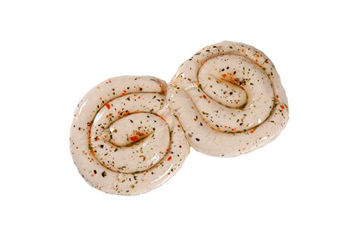 Geflügel-Bratwurst-Schnecke