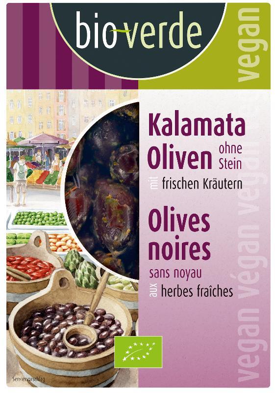 Schwarze Kalamata Oliven o. Stein